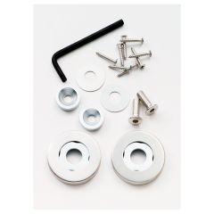 Eurospec Rose Pack for Steelworx 201 door Pull Handles - Bright Stainless Steel