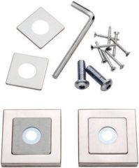 Eurospec Square Rose Kit for Steelworx 304 door Pull Handles