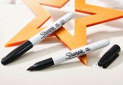 Sharpie® Fine Tip Permanent Marker Black (Pack 2)