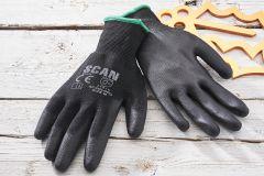 SCAN Pack of 10 Black PU Gloves