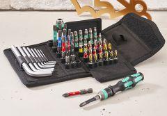 Wera Kraftform Kompakt 100 Screwdriving Service Bit Set, 52 Piece