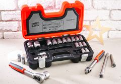 Bahco S240 Socket Set of 24 Metric 1/2in Drive